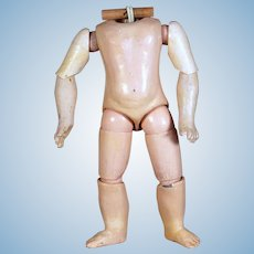 Early Marked Jumeau Body in Petite Size, 9 inches