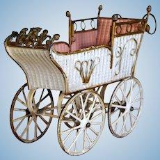 Antique MARKLIN Pram Doll Carriage,  9 inches