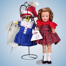 """Vintage 1950s  12"""" Vinyl Ideal Shirley Temple Doll, extra Clothing"""