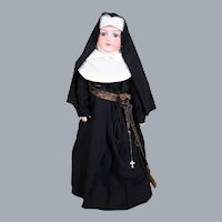 Armand Marseille 390 Bisque Doll in Original Nun's Outfit, 20.5 inches