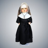 Painted Bisque Armand Marseillle  Doll in Original Nun Outfit, 16 inches