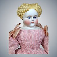 German Bisque Child by ABG in Fabulous Early Dress, 23 inches