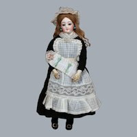 French FG Fashion Poupee Nanny with Baby in Bunting, 15 inches