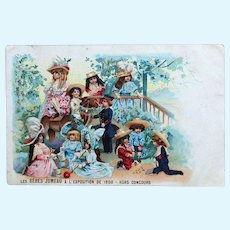 Jumeau Tradecard, Rare, 1900