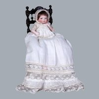 ALL-ORIGINAL All Bisque Bye Lo Baby w Glass eyes, Wig , 5 inches
