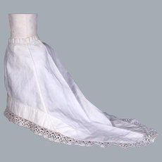 Antique French Fashion Petticoat with Long Train