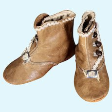 Antique Children's Boots, 4.5 inches