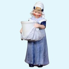 Heubach Bisque Figurine, Dutch Gilr carrying water, 6 inches