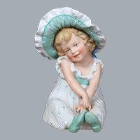 Heubach Figurine Sunbonnet Baby, 7.5 inches
