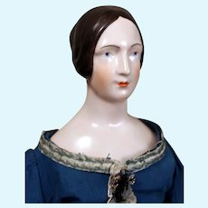 Brown Haired Royal Copenhaged China Reissue on Antique Body, 20 inches