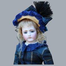 Portrait Jumeau French Fashion Doll, 18 inches tall