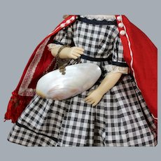 Antique Mother of Pearl Clam Purse for your French Dolls