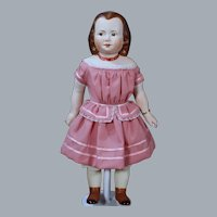 """Region14 Souvenier Doll by Jeannie Singer, 1850's Child with molded Jewelry, 13.5"""""""