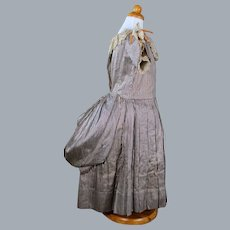 Antique Silk Child's Dress with Bustle fro Display, Museum Quality