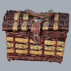 Antique Basket/Necessaire for  Dolls