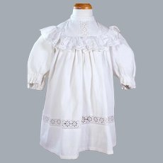 Antique Little Girl's Dress for Large Doll, 20.5 inches