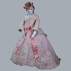 Early French Fashion with Bisque and Wood Arms, 18 inches