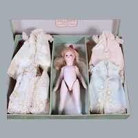 Mignonette All-Bisque with Boutique Box and Original Dresses, 5.5 inches