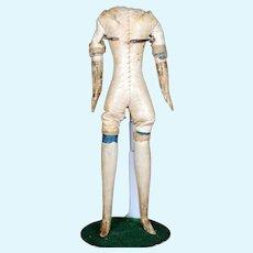 "Antique ""Milliner's Model"" Body for Small Papier Mache Doll"