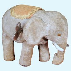 Working Wind Up Walking Elephant by Alps, Vintage