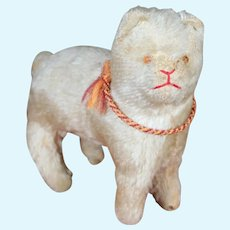 1920's Mohair Cat with Glass Eyes