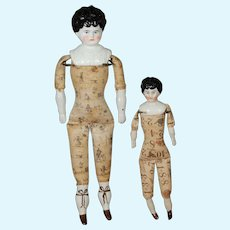 Pair of Hertwig Chinas with Printed Bodies