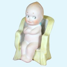 Kewpie The Governor in Chair by Rose O'Neil, 3.5""