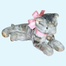 Adorable Lounging Mohair Kitty, 8.5""