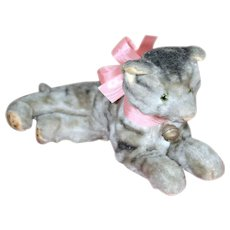 """Adorable Lounging Mohair Kitty, 8.5"""""""