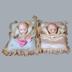 Factory Original Pair of Tee Wee Hand Babies on Pillows w/Hang tag