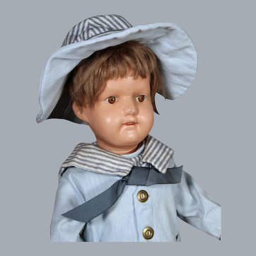 """Schoenhut """"Miss Dolly"""" with Original Wig, 19 inches"""