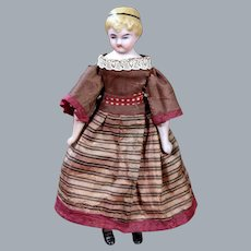 Doll House Doll with Molded Hair Ribbon and Bootines 5.25 inches