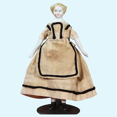 Doll House doll with 1870's Do, original clothing, 4.25 inches