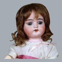 German Bisque Doll Marked LHK, 11.5 inches