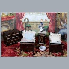 Boulle Beidermier Bedroom Set Dollhouse Furniture