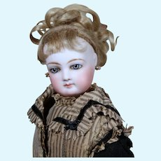 Beautiful Jumeau French Fashion with 1870 Silk Dress, 17 inches