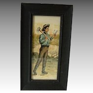 Antiique Young Abraham Lincoln Framed Portrait