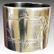 Sterling Napkin Ring Eastlake Victorian American