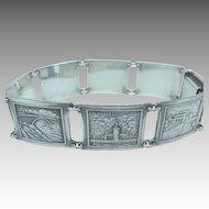Vintage Stockholm Sweden Sterling Souvenir Bracelet