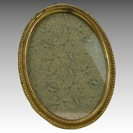 Antique Edwardian Oval Brass Tabletop Frame