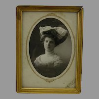 Gilded Metal Antique Victorian Tabletop Frame with photo