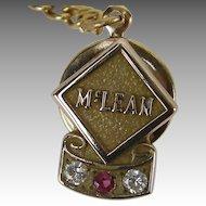 McLean Trucking Company 10k gold, ruby, diamond Tie Pin