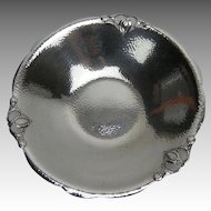 Nordic Art Silverplate over Hammered Copper Art Deco Fruit Bowl