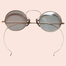 Antique 14k Gold Wire Rimmed Eyeglasses