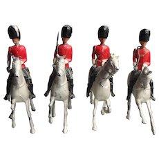 Vintage Britains Royal Scots Guard on Horseback Lead Soldiers
