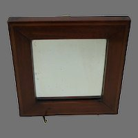 Antique Mahogany Mirror with String Inlay