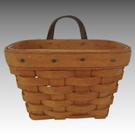 Vintage Longaberger Small Wall Hanging Basket