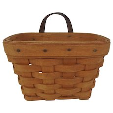 Vintage Longaberger Small Wall Hanging Basket