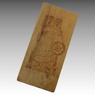 Wooden Cookie Springerle Shortbread Butter Press Hand Carved Vintage