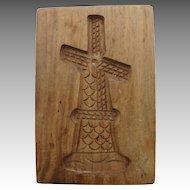 Wooden Windmill Cookie Springerle Shortbread Butter Press Hand Carved Vintage